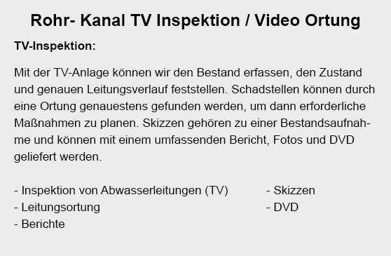 TV Inspektion aus 22880 Wedel